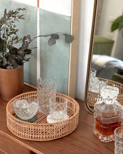 Vaso grande Morley de vidrio transparente