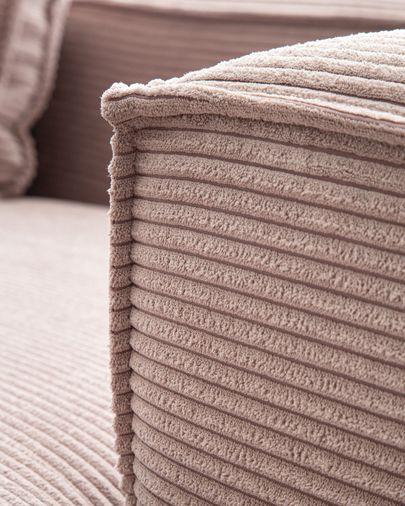 Sofà Blok 3 places chaise longue dret pana rosa 300 cm
