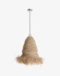 Lámpara de techo Shianne de fibras naturales