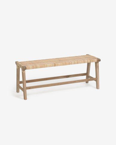 Panca Beida in legno massello di teak 120 cm