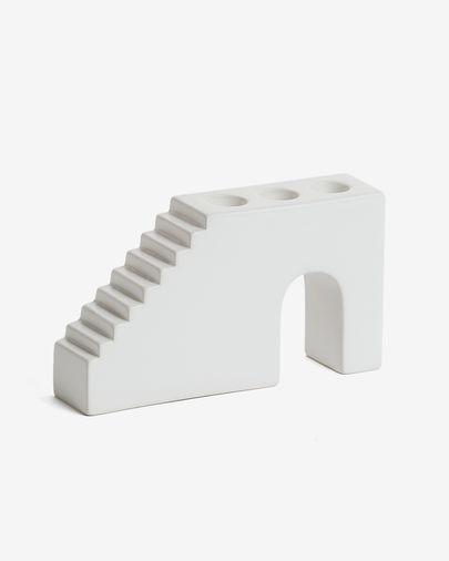 Portavelas Anteia blanco