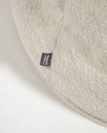 Puf Vicka borrego blanco Ø 70 cm
