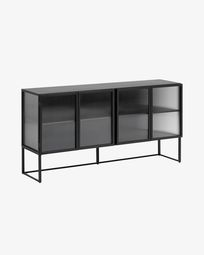 Aparador Trixie metal negro 160 x 81 cm