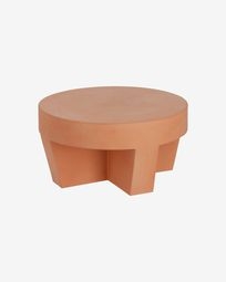 Vilena terracotta coffee table, 60 cm