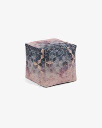 Multicolor Imma pouf 45 x 45 cm