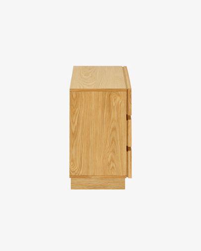 Taiana Kommode mit 3 Schubladen mit Eichenfurnier 100 x 68 cm