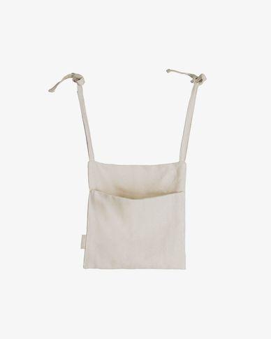 Sac de rangement pour lit bébé Cleonice 100% coton (GOTS) beige