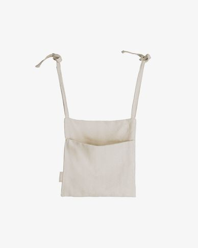Bolsa organizadora para cuna Cleonice 100% algodón orgánico (GOTS) beige