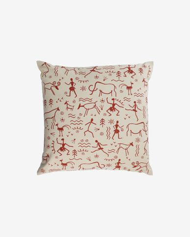 Itzayana 100% cotton cushion cover in terracotta 45 x 45 cm