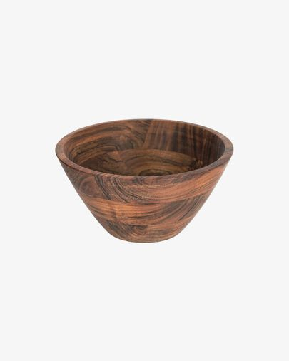 Bol grande Dhana madera maciza acacia
