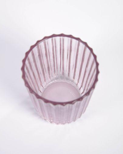Vaso pequeño Savelia de vidrio rosa claro