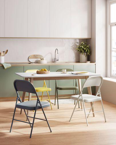 Krzesło składane Aidana z  metalu w kolorze jasnoszarym| Kave Home