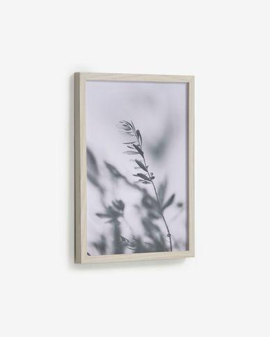 Quadro Makena foglie di ulivo grigio 30 x 40 cm