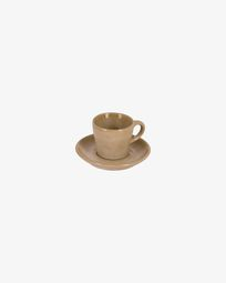 Beige Vreni cup with plate