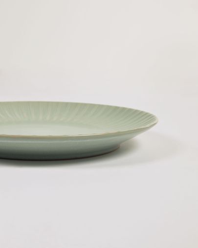 Plato de postre Itziar de cerámica verde
