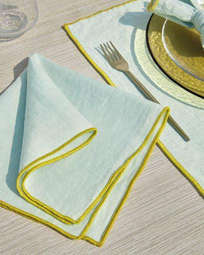 Turquoise Daneli 2 napkin set