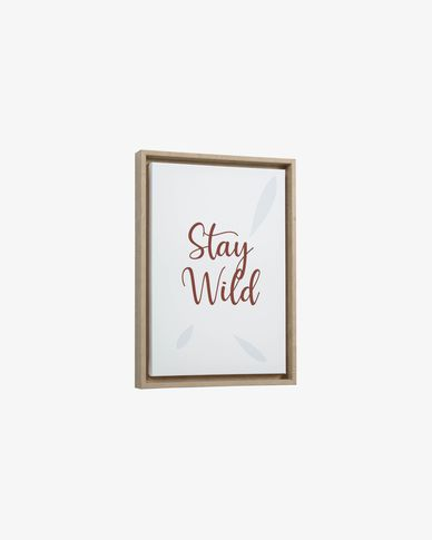 Quadro Uriana Stay Wild marrone  30 x 42 cm