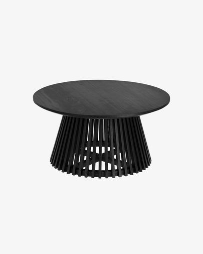 Jeanette Ø 80 cm black coffee table