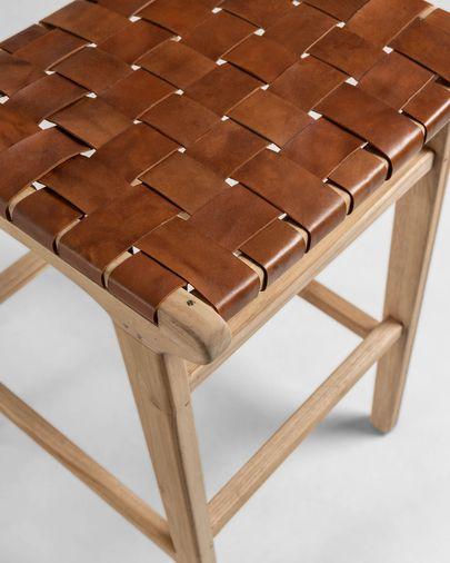 Taburete Calixta de madera maciza de teca altura 76 cm