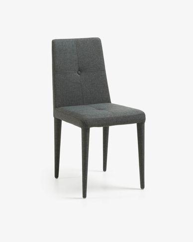 Chaise Cust gris foncé