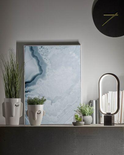 Artificial Suculenta mix in ceramic and glass pot