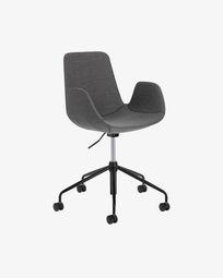 Chaise de bureau Yolanda gris foncé
