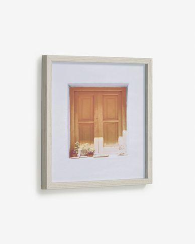 Quadro Leyla finestra di casa marrone 40 x 40 cm