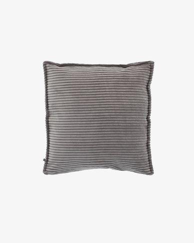 Grey corduroy Wilma cushion cover 45 x 45 cm