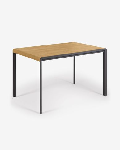 Nadyria extendable table with oak veneer and steel legs 120 (160) x 80 cm