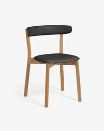 Krzesło Santina czarne i z litego drewna bukowego