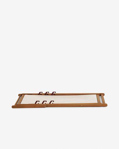 Hamaca plegable d'exterior Adredna beix de fusta massissa d'acàcia FSC 100%
