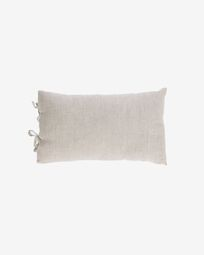 Tazu 100% linen cushion cover in beige 30 x 50 cm
