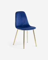 Blue fabric Yaren chair