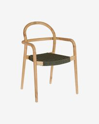 Sheryl chair made from solid eucalyptus and green cord FSC 100%