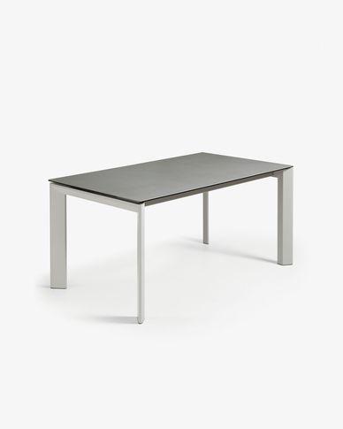 Tavolo allungabile Axis 160 (220) cm porcellanato finitura Hydra Piombo gambe grigio
