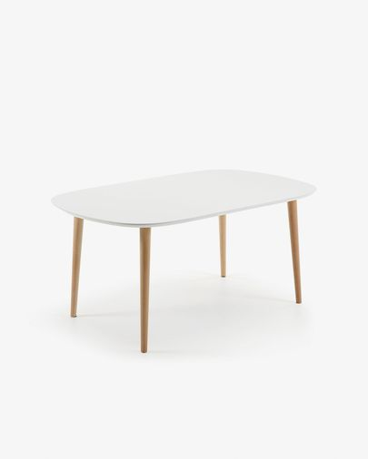 Table Oqui extensible ovale 160 (260) x 100 cm blanc