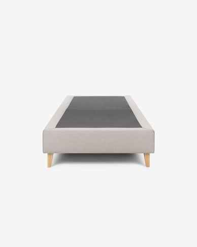 Base letto alta Nikos 90 x 190 cm beige
