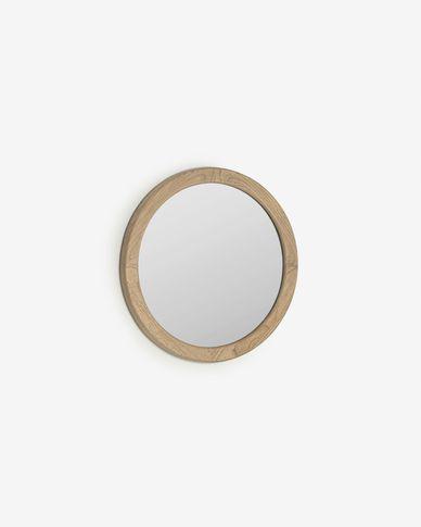Specchio rotondo Alum in legno massello di mindi Ø 50 cm