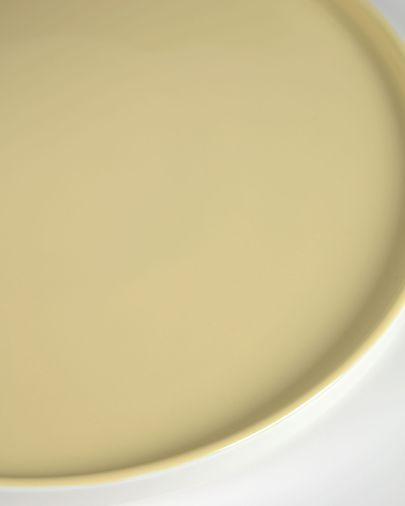 Geel keramisch dessertbord Midori