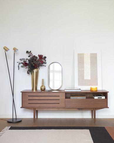 Carolin in veneered walnut TV stand 180 x 63,5 cm