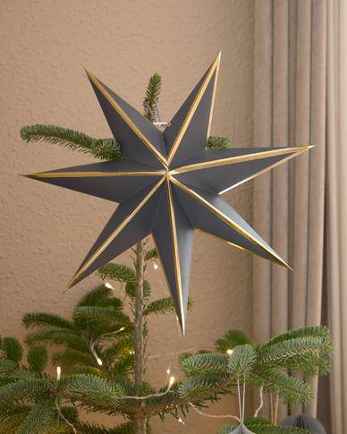 Decoratieve ster Vica groot hangend in blauw