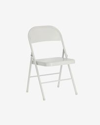 Aidana metal folding chair in light grey