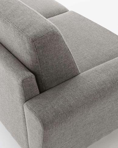 Narnia 3-seater sofa in dark grey chenille 192 cm