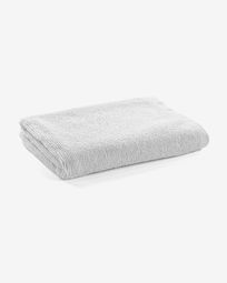 Miekki large bath towel white