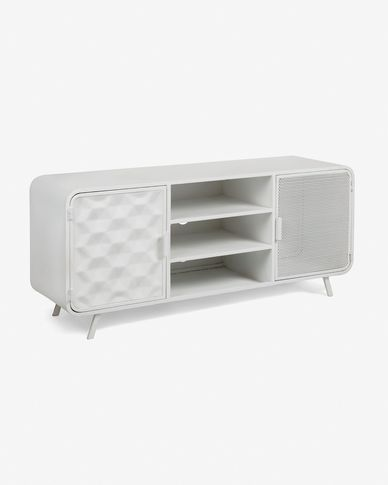 Mueble TV Rita metal blanco 140 x 63 cm