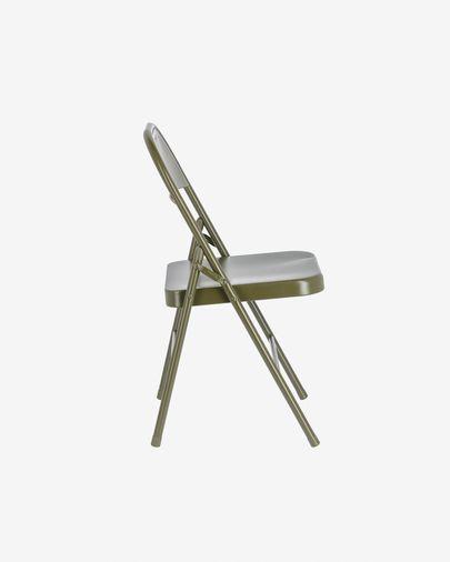 Aidana metal folding chair in dark green