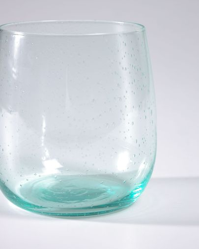 Transparant en blauw glas Hanie