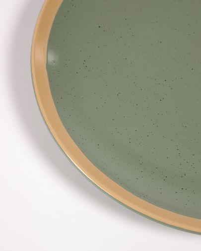 Tilla ceramic dessert plate in dark green