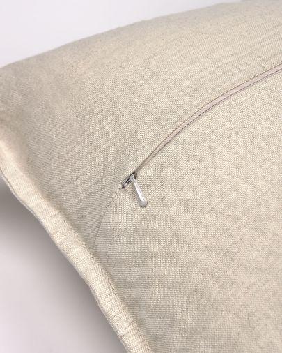 Housse de coussin Achebe coton y lino beige 45 x 45 cm