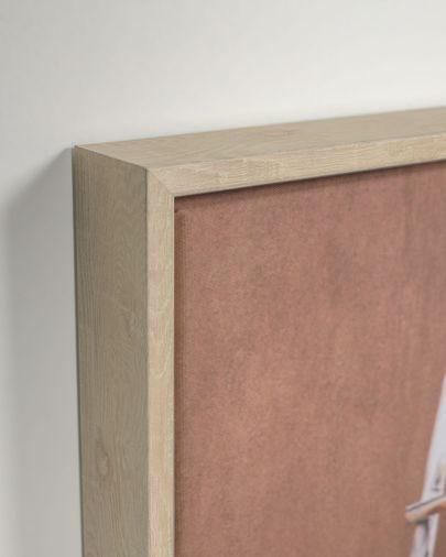 Quadro Lucie escada madeira 50 x 70 cm
